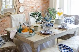 the center of the table to make setting the table a breeze this also sets the tone to a help yourself meal and allows guests to grab items as needed