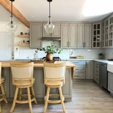 Superior Small Farmhouse Open Concept Kitchen Remodeling   Small Country L Shaped  Light Wood Floor And