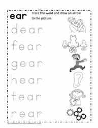 Judy moody saves the world! Ear Word Family Worksheets