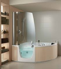 Whirlpool Tub And Shower Combo On The Corner Bathroom