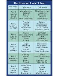 Swadhyayayoga Blogspot Com The Emotion Code Chart