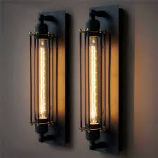 indoor wall sconces. Vintage Wall Lamp Iron Black Light Industrial Rustic Sconces Indoor Home Lighting Luminaria Edison Fixtures-in Lamps From Lights