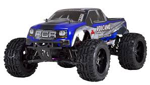 volcano epx 1 10 electric monster truck blue silver