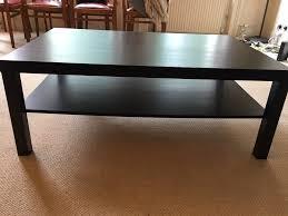 ikea lack coffee table black brown