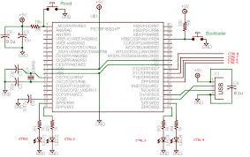 usb interface board tutorial using pic18f4550 usb pic18f4550 schematic circuit diagram for usb interface board schematic all the components required