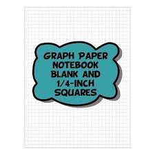 Graph Paper Notebook Blank 1 4 Inch Squares Blank 4 Squares Per Inch Grid Lined Pages Blue