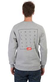 <b>Толстовка SKILLS Slogan</b> Quad Sweatshirt (Серый, L) - купить по ...