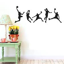 boys wall stickers basketball man boys wall stickers sports wallpaper wall decals art kids boys room home decorations baby wall art stickers childrens
