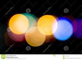 Bokeh Night Light At City For Background Beautiful Circle