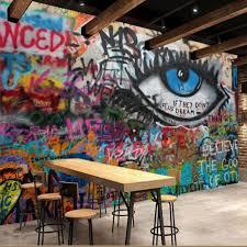 office graffiti wall. Custom Wallpaper Graffiti Wall KTV Bars Cafe Office Mural Seamless Large Photo T