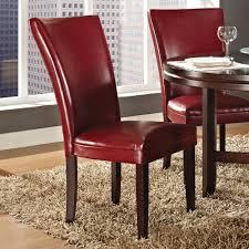 steve silver hartford 5 piece round dining room set w red chairs in dark oak