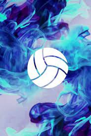 volleyball blue flames