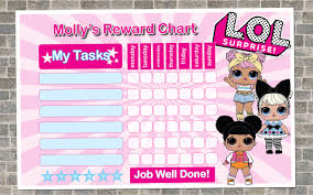 Lol Sticker Chart Lol Dolls Reward Chart Personalized Reward Chart Kids