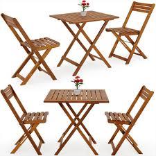 Ensemble 2x chaise 1x table pliable - Salon de jardin balcon ...