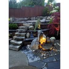 decorative garden stone fountain पत थर