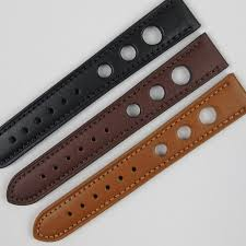 calf leather rally style watch strap 18mm 22mm