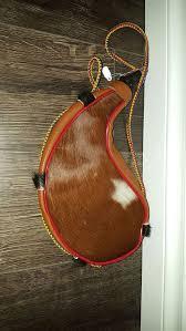 autentic colombian leather bota bag wine skin