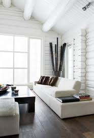 like this space white painted log cabin interior this is what i want to do from the bedroom office design carsten roth architecture