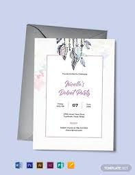Invitation Layout Free Free Boho Debut Invitation Template Word Psd Indesign