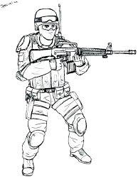 Soldier Coloring Pages Printable