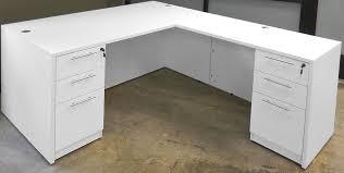 white u shaped workstation whutch white l shaped desk with hutch