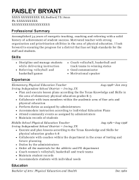 Physical Education Teacher Resume Simple Best Elementary Physical Education Teacher Resumes ResumeHelp