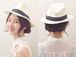 三つ編みで簡単麦わら帽子に合う爽やかヘアアレンジ ヘアアレンジ