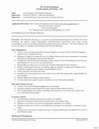 Retail Sales Associate Job Description For Resume Elegant Retail