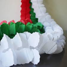 Paper Decorations Christmas Online Cheap Long Four Leaf Clover Tissue Paper Garland Wedding