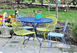 painting wrought iron furniture. Breathtaking Painting Wrought Iron Patio Furniture Paint How To Strip From