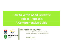 Project Proposals Mesmerizing How To Write Good Scientific Project Proposals A Comprehensive Guide