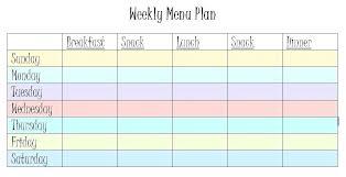 Babies Menu Planner Meal Menu Template Weekly Dinner Menu Planner Template Printable