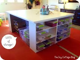 diy crafting table, craft rooms, painted furniture, storage ideas, Check  out all