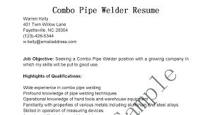 Welder Resume Awesome Welder Resume Objective Examples Sample Download Welding Practicable