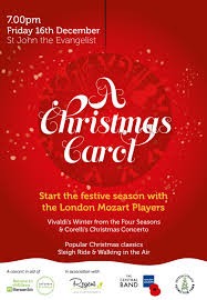 Christmas Concert Poster London Mozart Players Charity Christmas Concert Dec 16 Inside