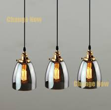 industrial retro vintage copper smoke glass switch pendant lamp ceiling fitting
