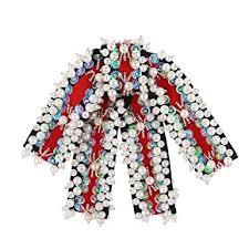 Sunvy Vintage Handmade Pearl Bow Tie Brooch Pin ... - Amazon.com