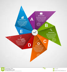 Abstract Options Infographics Design Template In The Shape