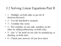 3 2 solving linear equations part ii