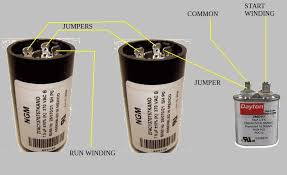 capacitor v motor how to hook up capacitors on speedaire does this rendition help you