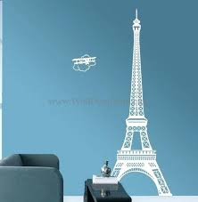 eiffel tower wall decal tower with plane wall decals eiffel tower wall decal large