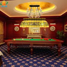 pool table chandelier style retro glass rattan man large chandelier restaurant billiards table snooker lights bar
