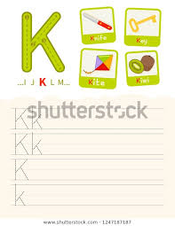 English Handwriting Practice Handwriting Practice Sheet Basic Writing Educational Stock