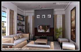 Fresh Design Of Living Room Dining Room And Kitchen Kerala Home - Home design for living room