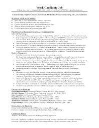 sample marketing resume