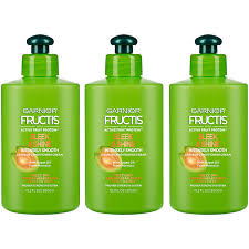 Garnier Fructis Sleek Shine Zero Smoothing Light Spray Garnier Fructis Sleek Shine Intensely Smooth Leave In Conditioning Cream 10 2 Ounce Pack Of 3 Packaging May Vary