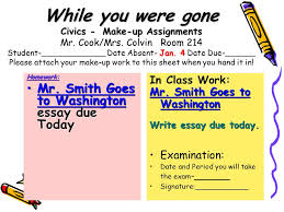 civics daily lessons ppt video online  while you were gone civics make up assignments mr cook mrs