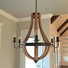 creative co op wood chandelier creative co op lighting farmhouse creative co op wood chandelier
