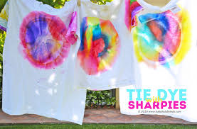 learn how to make sharpie tie dye t shirts and turn it into a color