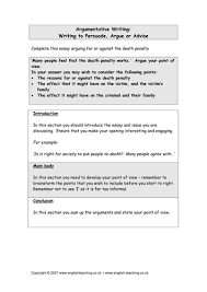 persuasive writing the death penalty by tesenglish teaching  persuasive writing the death penalty by tesenglish teaching resources tes